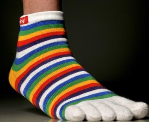 Toe socks may help to reduce blisters between toes for runners and walkers.