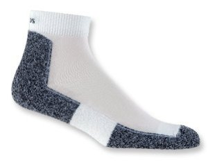 Thorlo running and walking socks will help to prevent blisters and keep your feet dry.