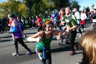 This was me at mile 9ish of the 2011 Marine Corps Marathon