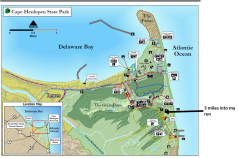 Cape Henlopen 3 miles in